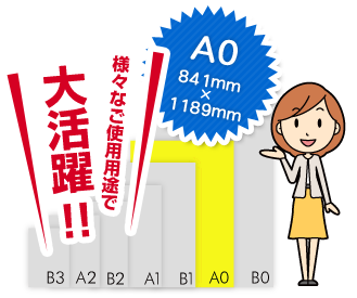 A0サイズは様々なご使用用途で大活躍!