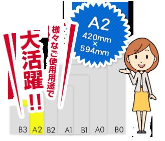 A2サイズは様々なご使用用途で大活躍!