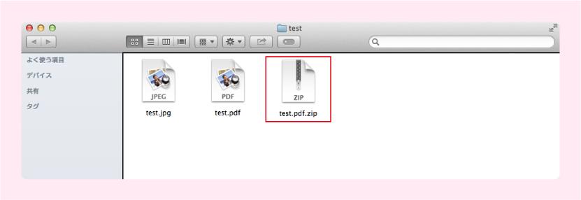 Macintoshでの圧縮方法イメージ画像